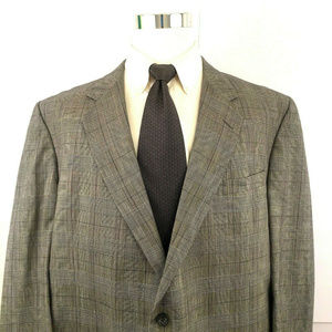 Hickey Freeman Striped Two Button Suit Jacket 46R